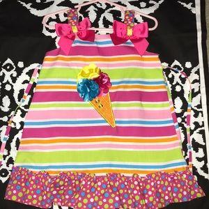 Little Girl Ice Cream Cone Dress